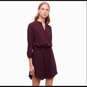 Babaton bennett dress size xxs in maroon
